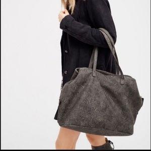 Free people vegan leather gray tote bag